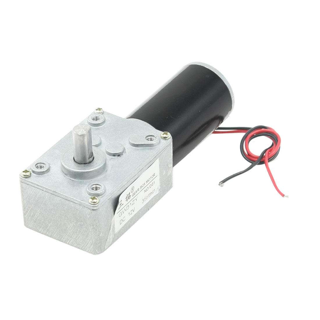 35RPM-DC-12V-8mm-Dia-Shaft-2-Wires-Gearbox-Electric-Geared-Motor