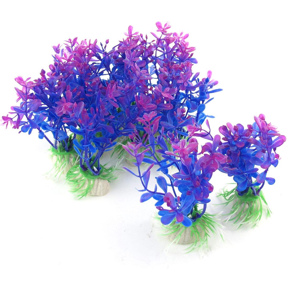 3-9-Height-Purple-Plastic-Water-Grass-Decor-Plants-10-Pcs-for-Fish-Tank