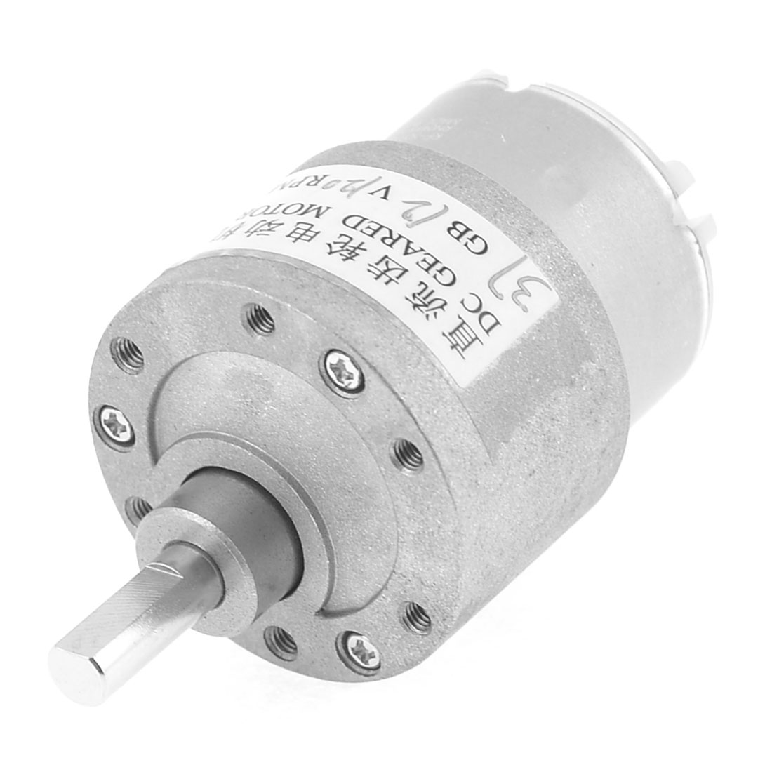 12V-120RPM-Permanent-Magnetism-6mm-Shaft-Dia-DC-Gearbox-Geared-Motor