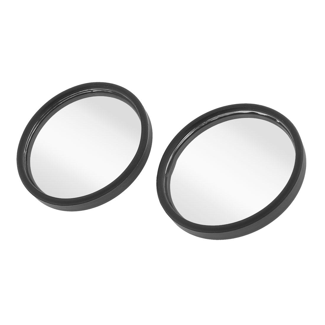 Unique Bargains Auto Car Adhesive Back Plastic Frame Blind Spot Mirror 50mm Dia x 2