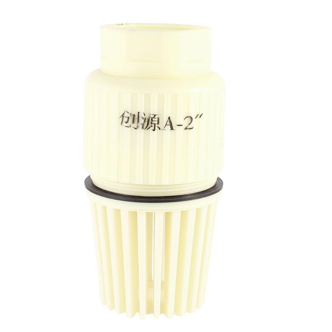 Industrial-Replaceable-2-PT-Connector-PVC-Female-End-Foot-Valve-Beige