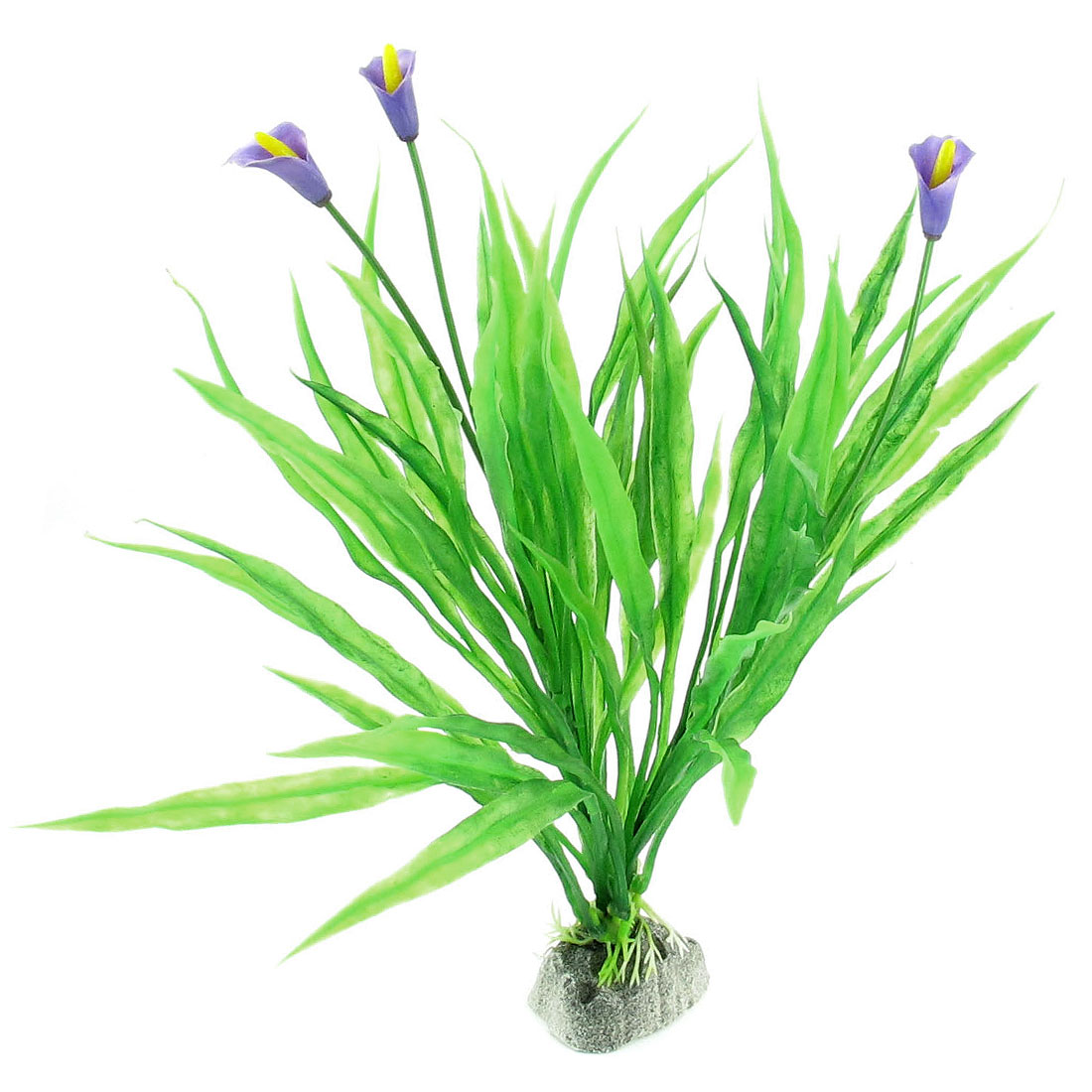 Plastic-Green-Purple-Flower-Manmade-Aquatic-Plant-Fish-Tank-Aquarium-Decor