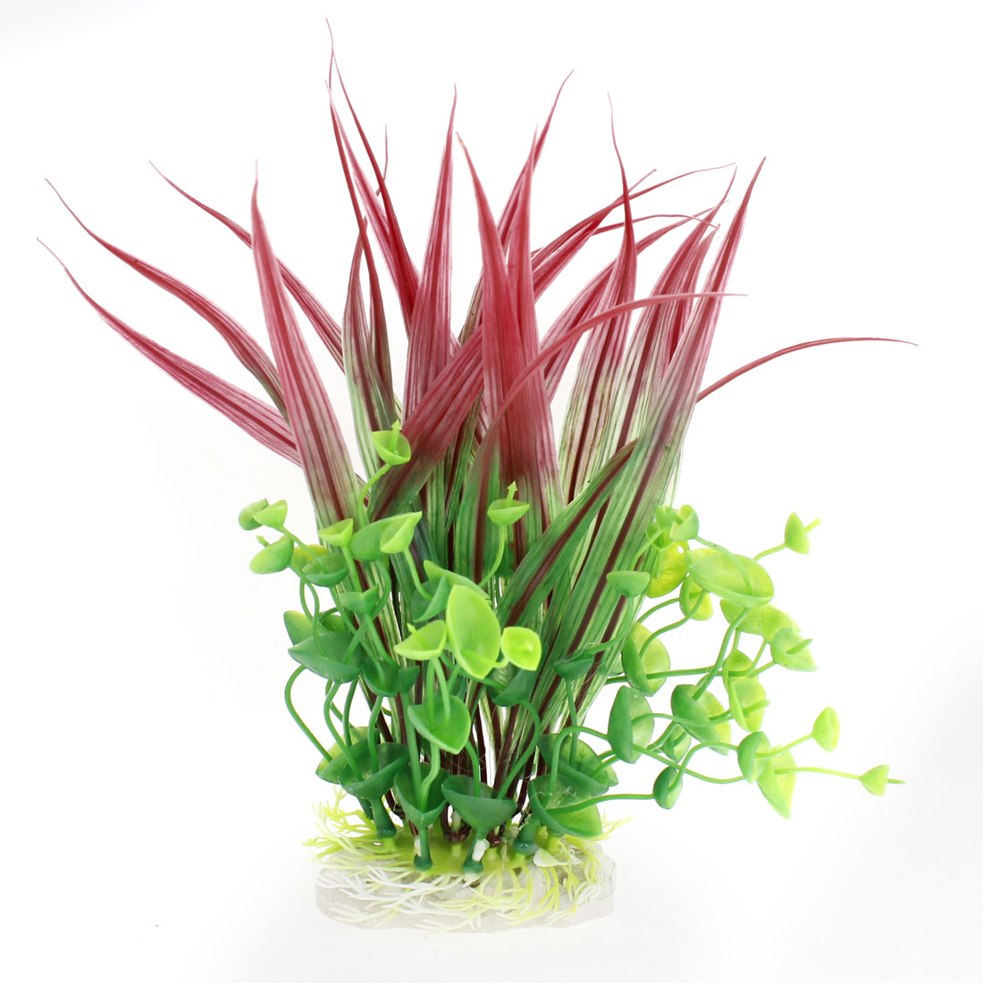 Plastic-Manmade-Green-Red-Underwater-Plant-Fish-Tank-Aquarium-Decoration