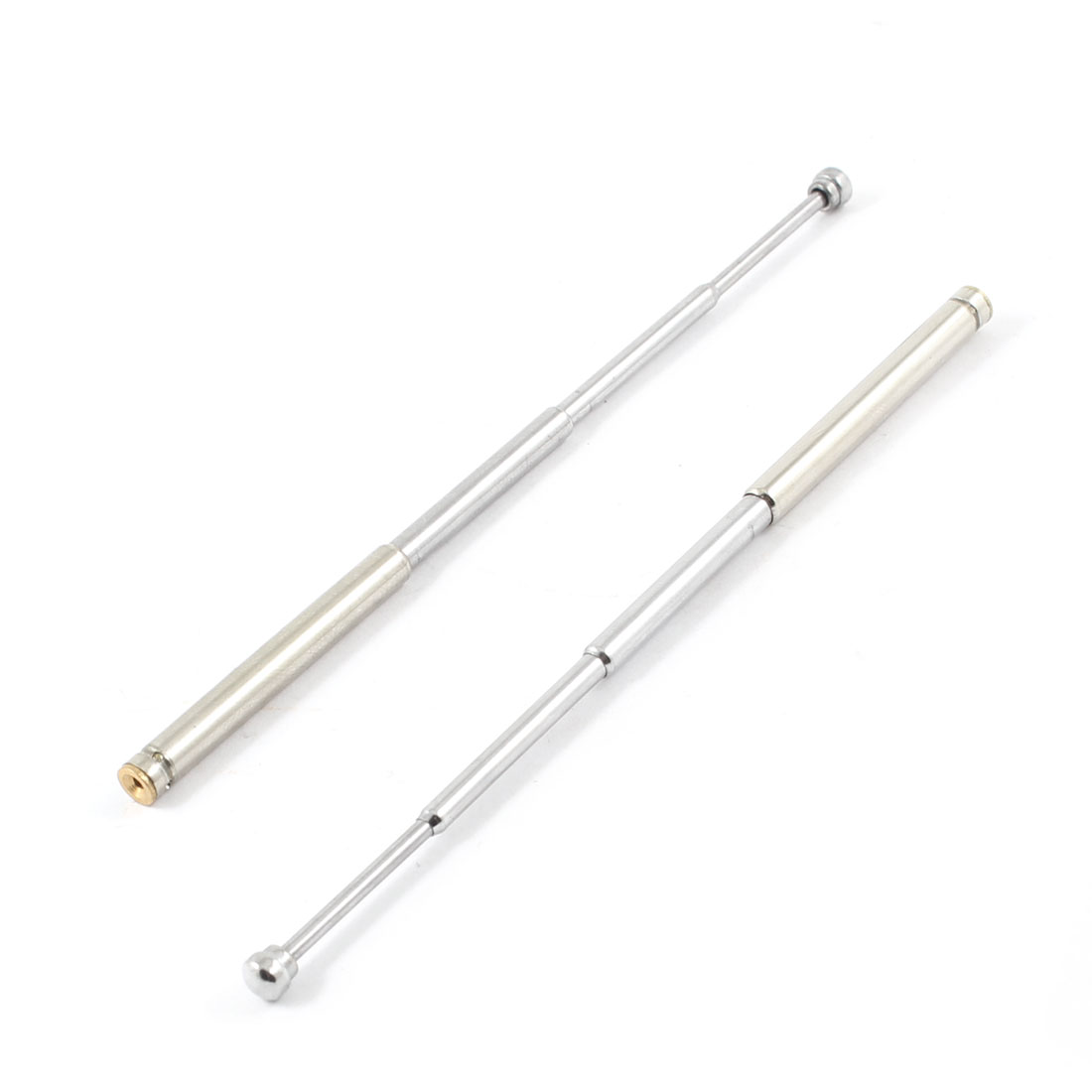 2-x-Stainless-Steel-Radio-Receiver-Telescopic-Antenna-4-Section-4-1-Long