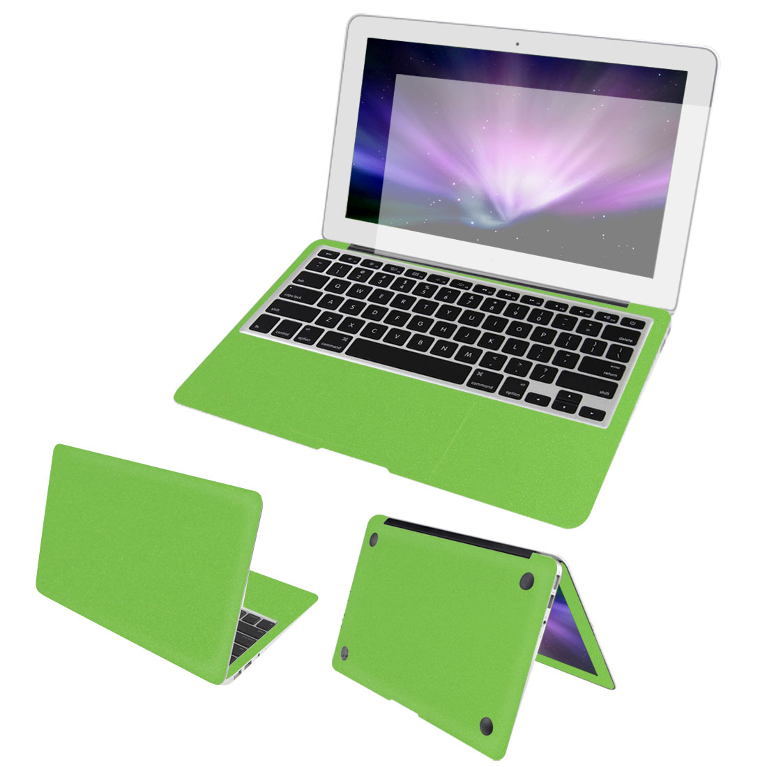 Green-Full-Body-Wrap-Protective-Decal-Skin-Cover-Screen-Film-for-Macbook-Air-13