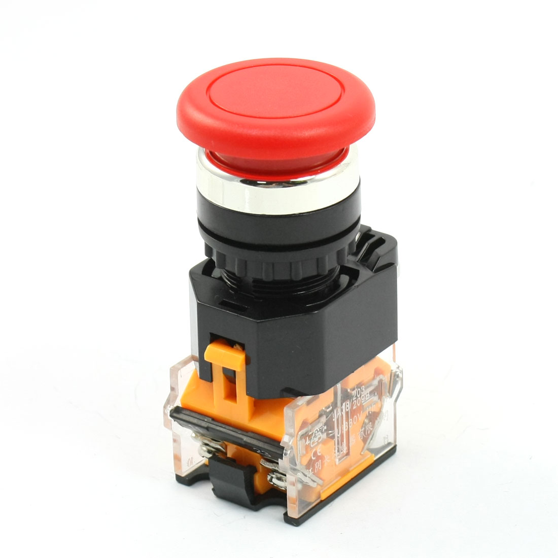 Panel-Mounted-2-Position-Momentary-Mushroom-Pushbutton-Switch-380V-10A