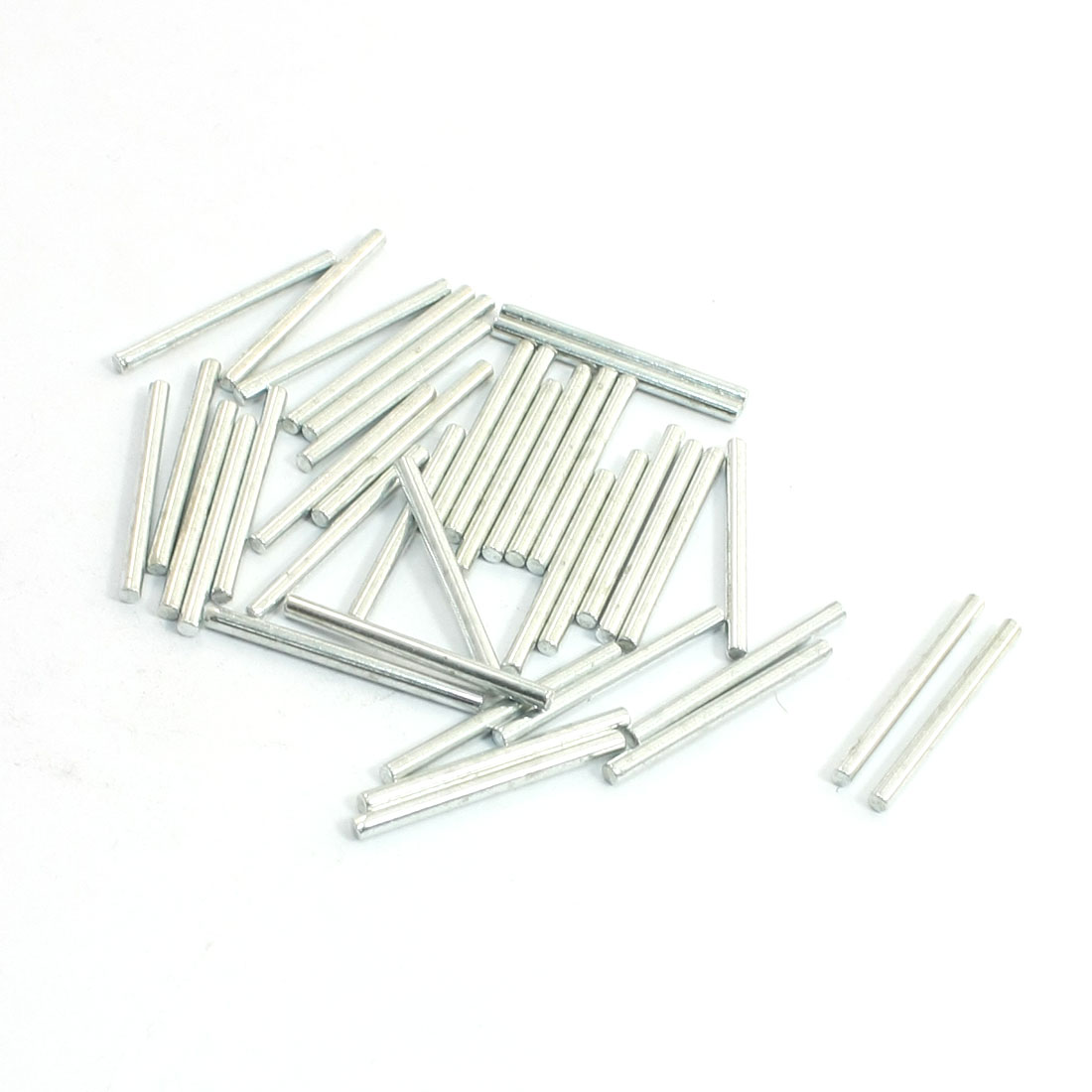 40pcs-Silver-Tone-Stainless-Steel-Round-Models-Part-Axle-25mm-x-2mm