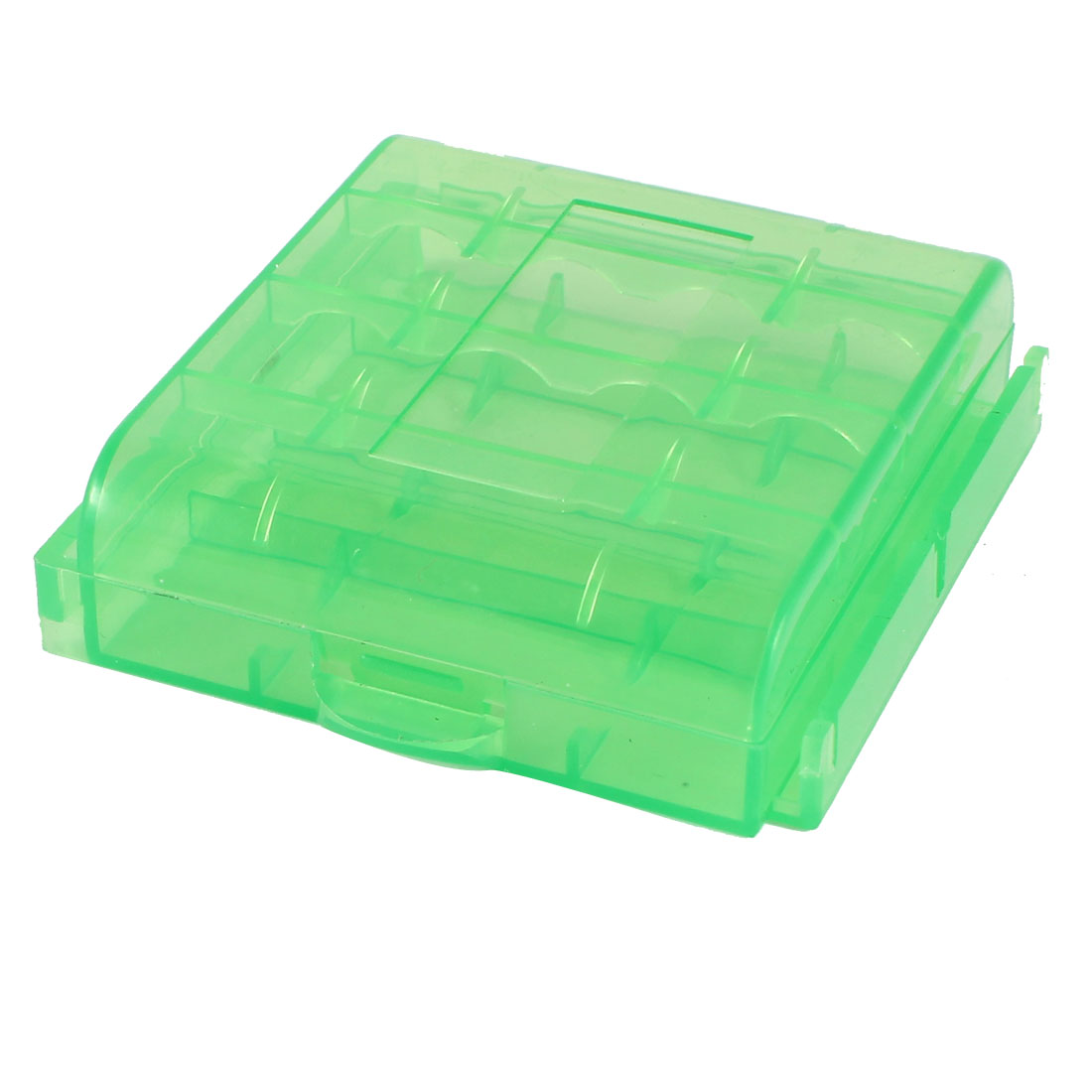 Plastic-Square-12-Compartments-Jewelry-Mini-Storage-Box-Case-Clear-Green