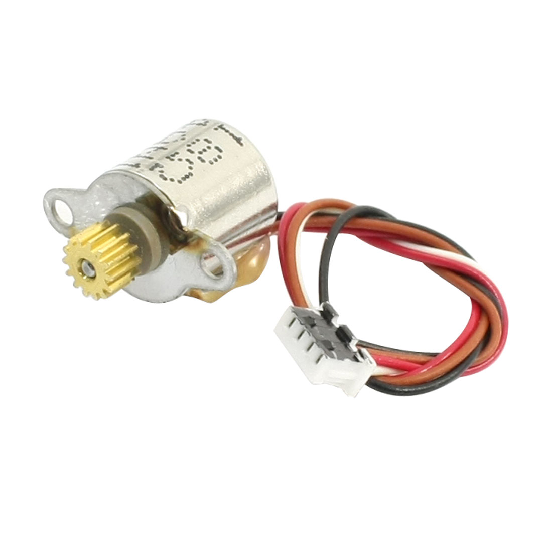 4-Wires-DC-6V-Thread-Shaft-Micro-Gear-Step-Stepper-Motor-Silver-Tone