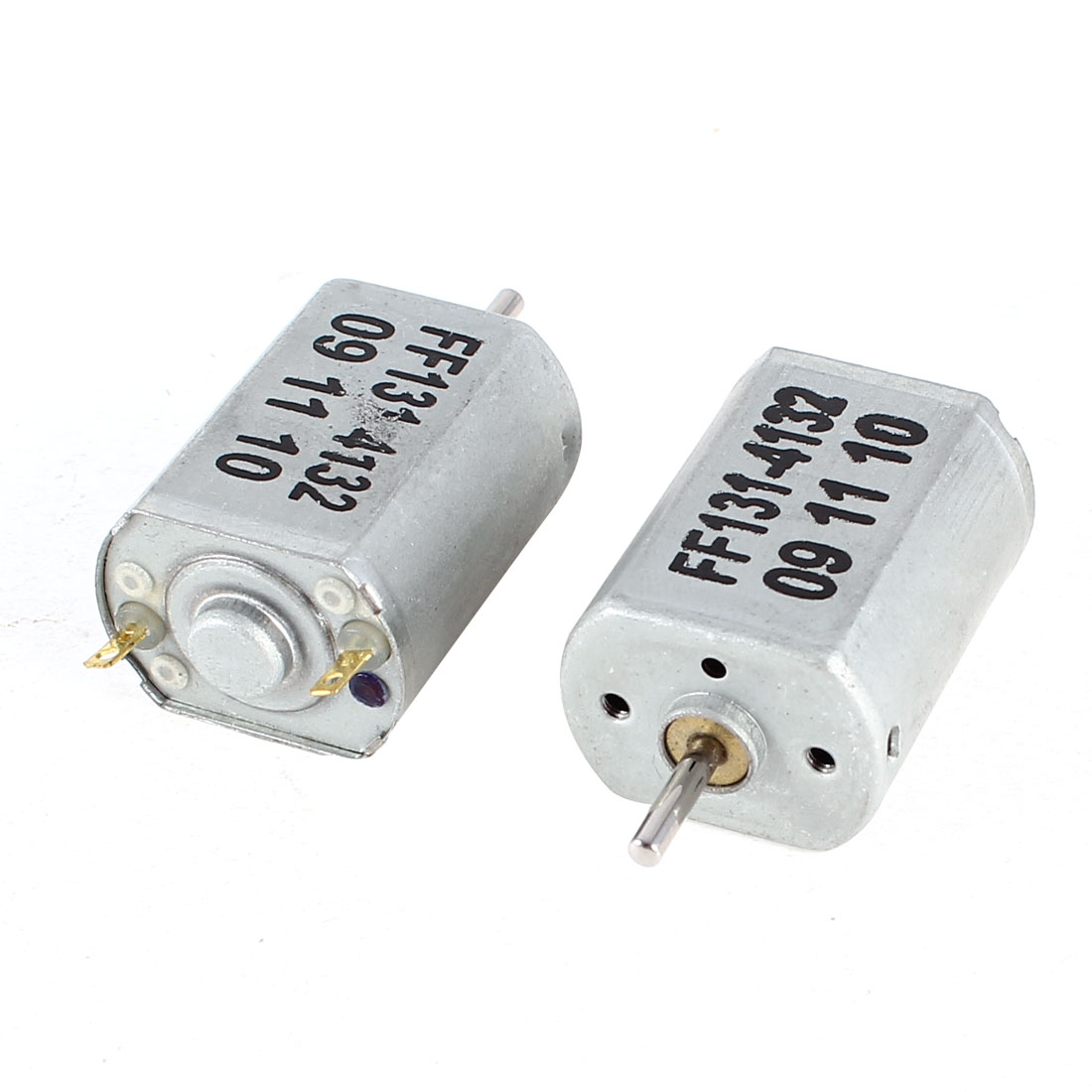 2-Pcs-Silver-Tone-2-Terminal-Electric-Magnetic-Mini-Micro-Motor-8000RPM-DC-3V
