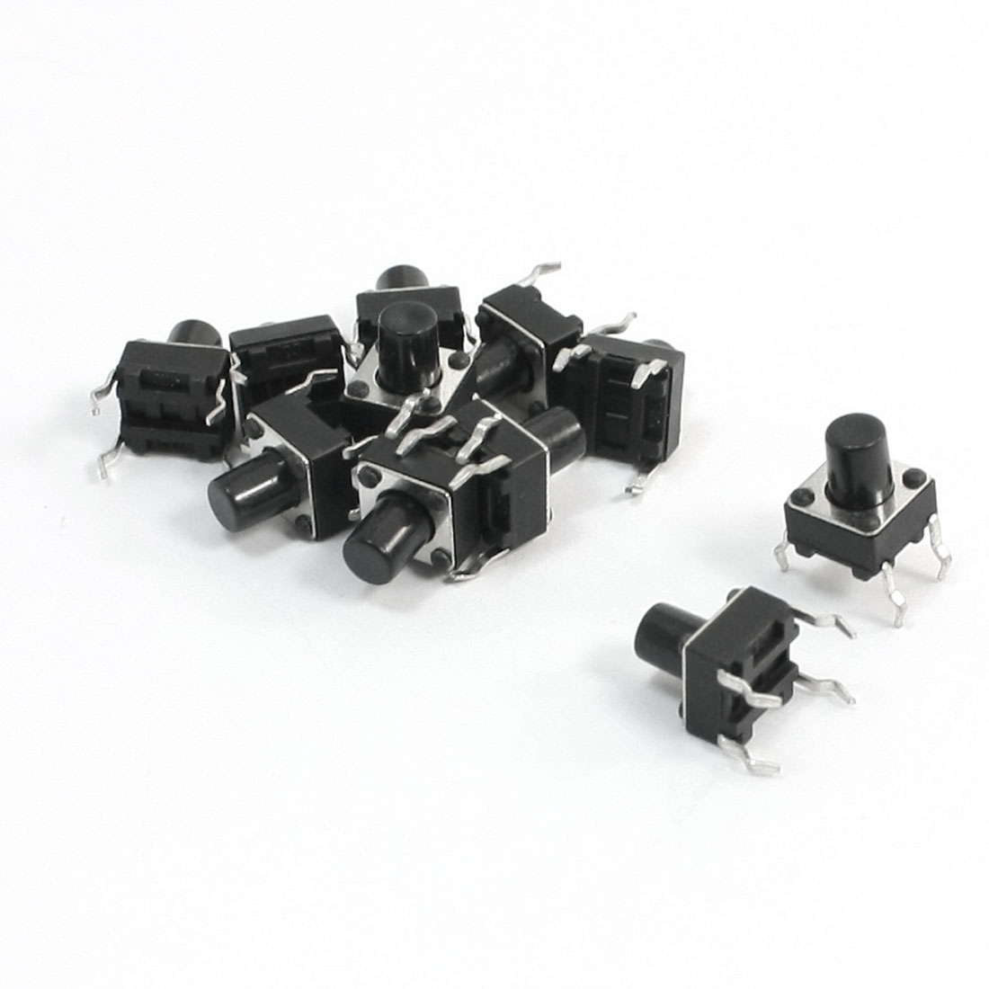 6mmx6mmx7-5mm-4-Pin-DIP-PCB-Momentary-Tactile-Push-Button-Switch-10Pcs