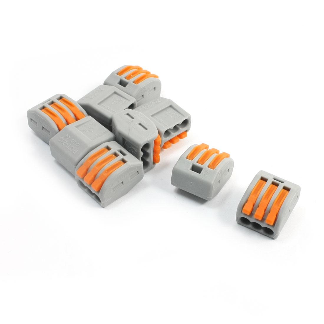AC-250V-32A-3Cond-Circuit-Board-Connector-Lever-Terminal-Block-10Pcs
