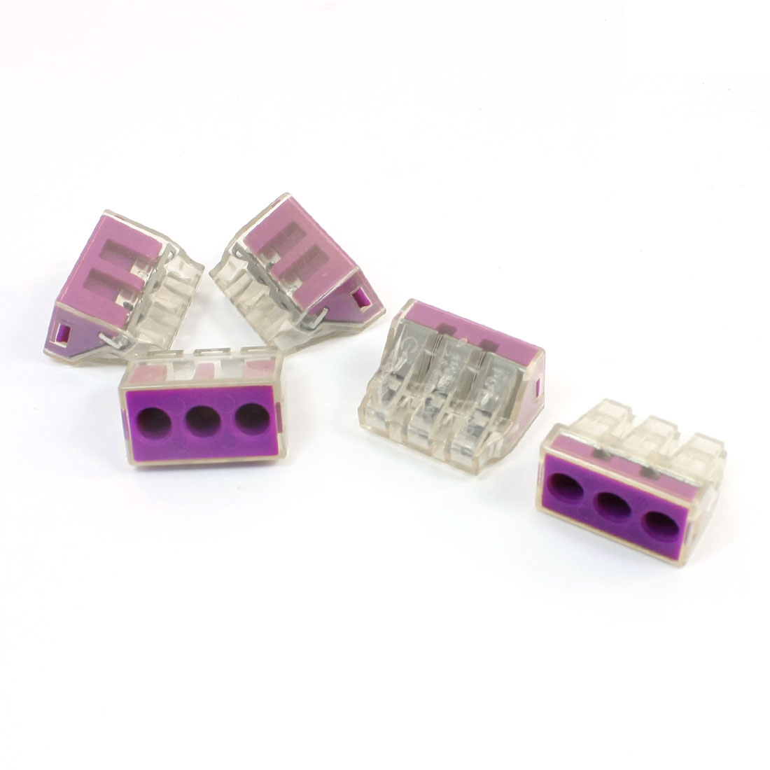 5Pcs-2-5-6mm2-3-Way-Terminal-Block-Push-Wire-Quick-Connector-AC250V-41A