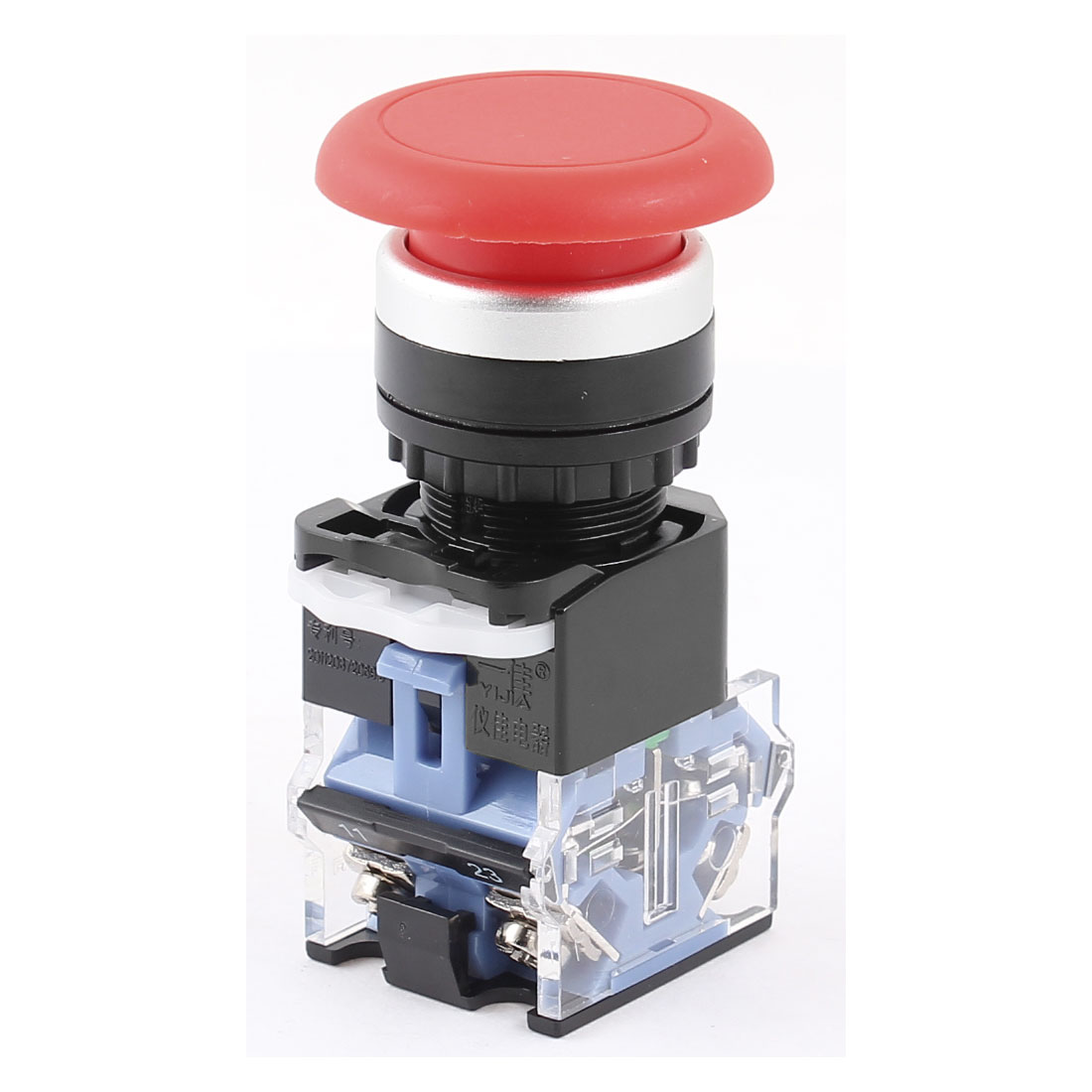 1NO-1NC-DPST-Red-Cap-Head-Momentary-Electronical-Push-Button-Switch-600V-10A