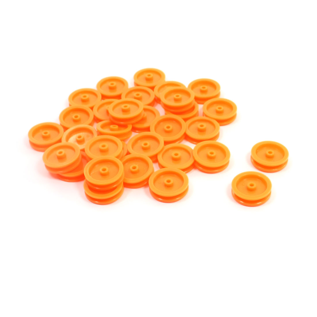 30Pcs-17mm-Dia-Round-Orange-Plastic-Belt-Pulley-Wheel-for-RC-Toy-Model