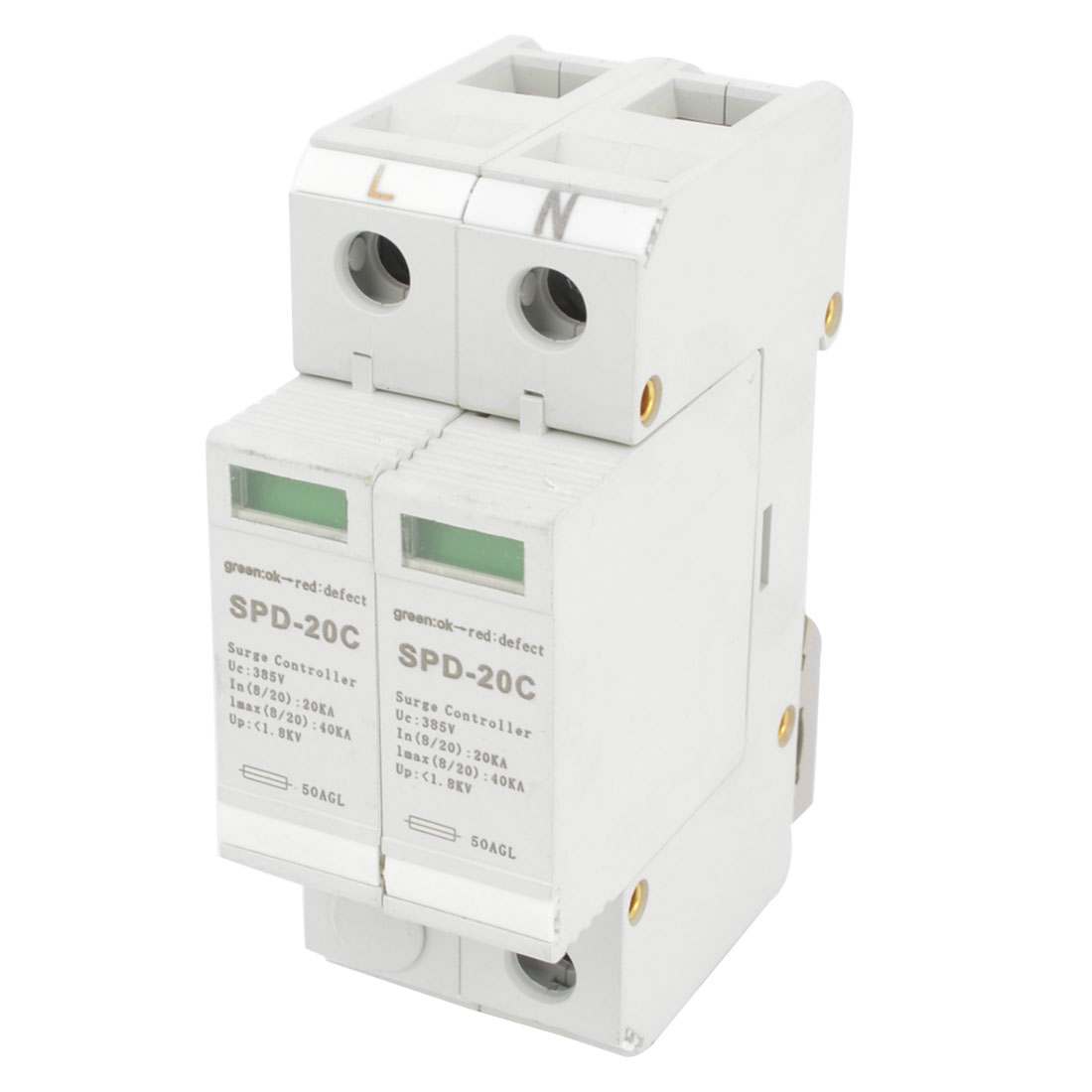 SOD-20C-385V-20KA-35mm-DIN-Rail-Mount-Surge-Protection-Device-Arrester