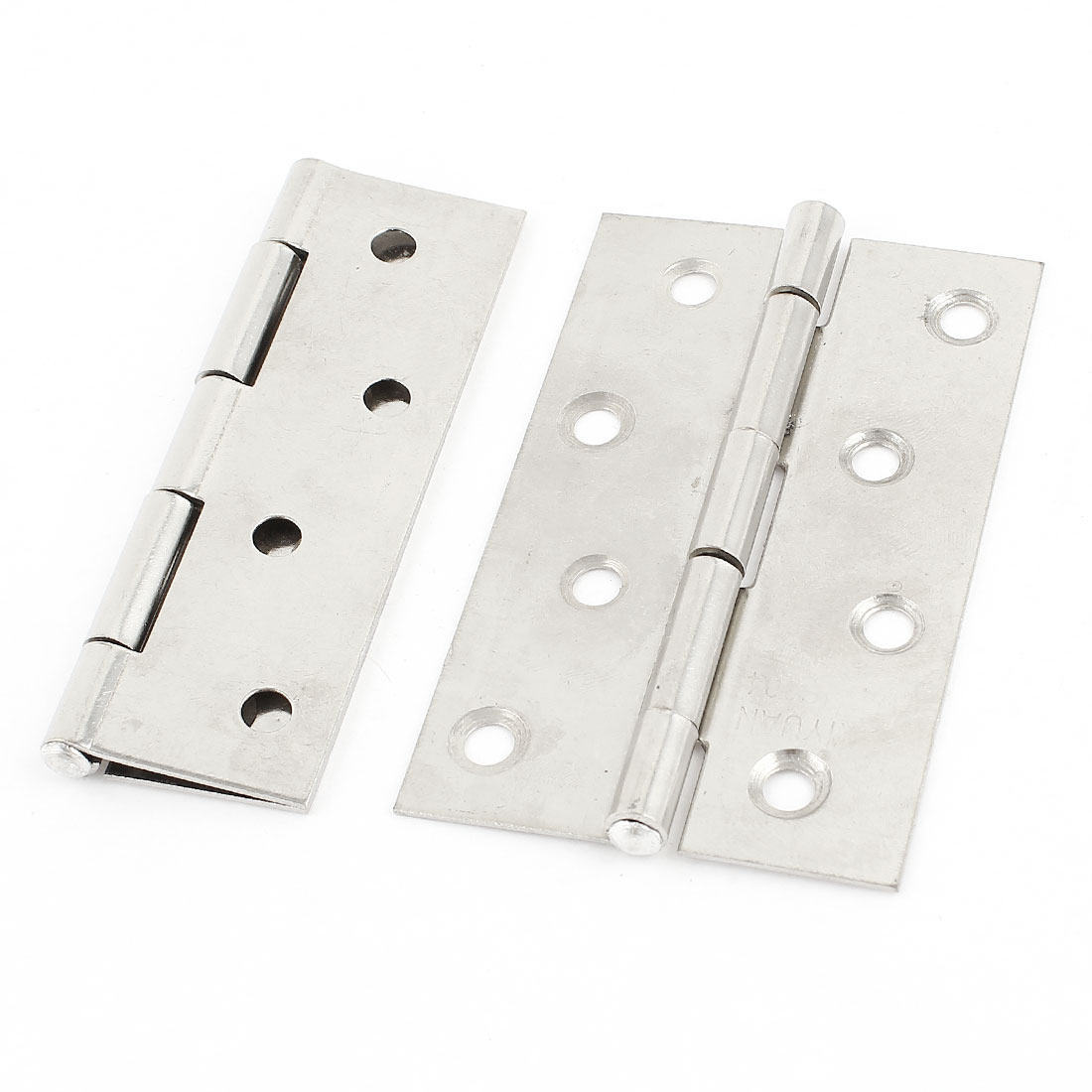 Unique Bargains 2 Pieces Stainless Steel Home Office Cabinet Gate Door Hinge 90mm Long