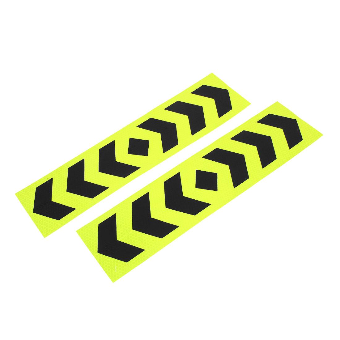 paire adhésif voiture réfléchissant bande bande sécurité étiquette jaune noir