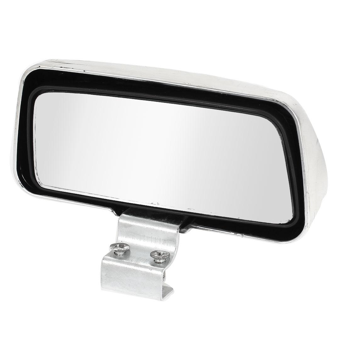 Unique Bargains Silver Tone Plastic Vehicle Rear View Blind Spot Mirror for Vehicle Car