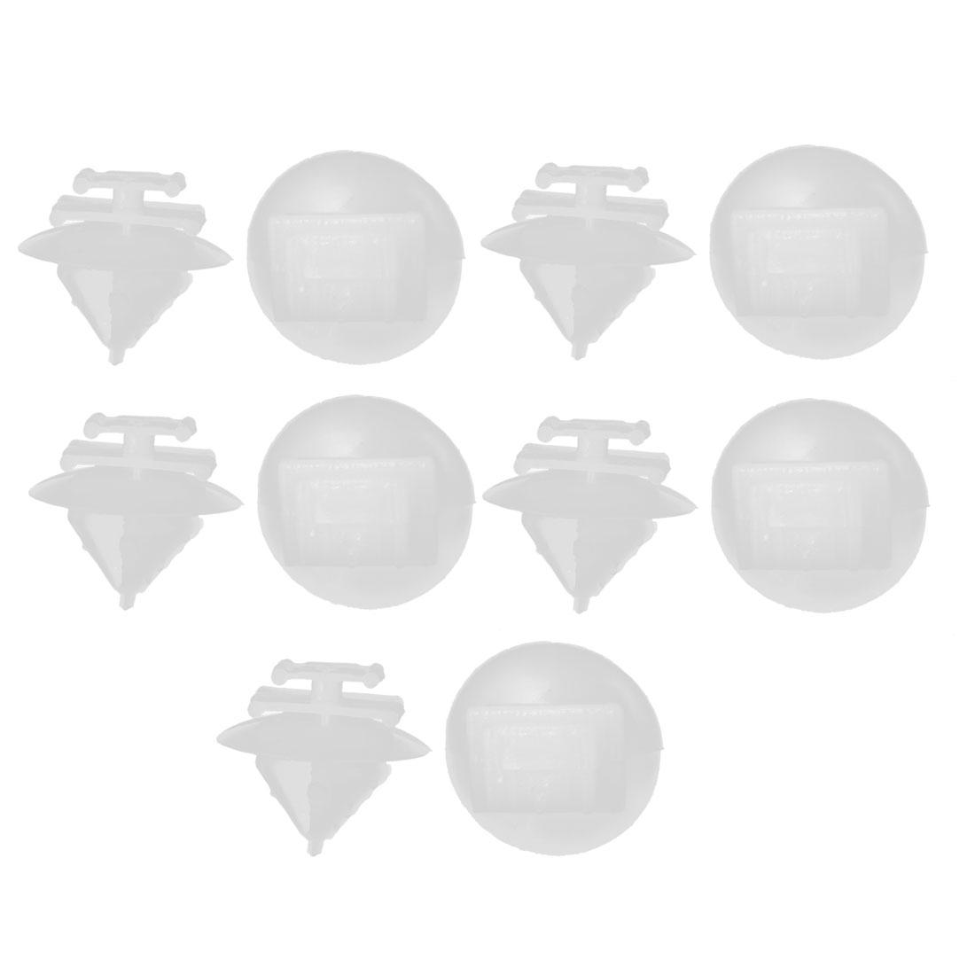 10pcs Blanc Garniture de portière Pare-boue Fixation Clips pour Citroen Peugeot