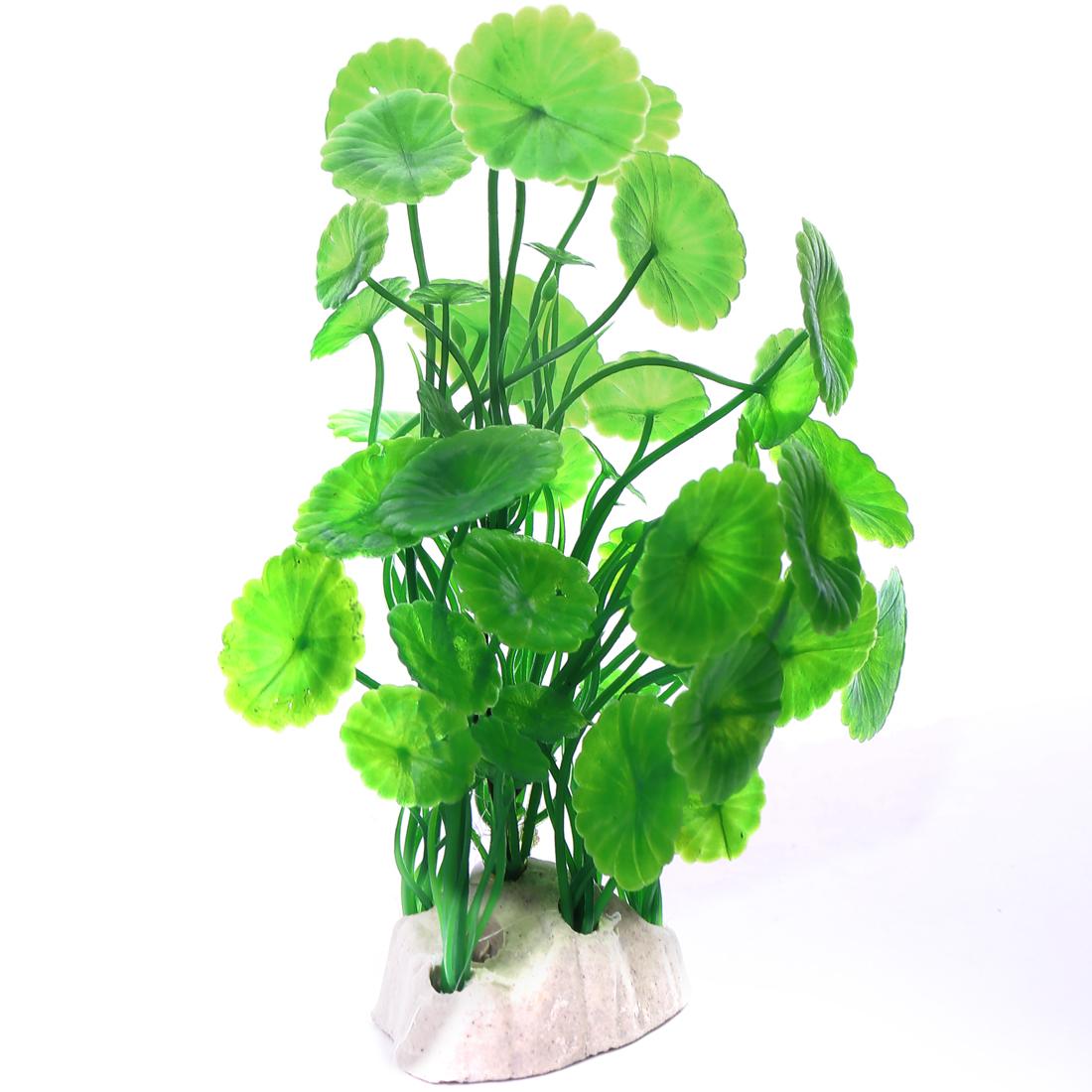 15cm max long Vert Feuille Plante aquatique en Plastique Décoration d'aquarium