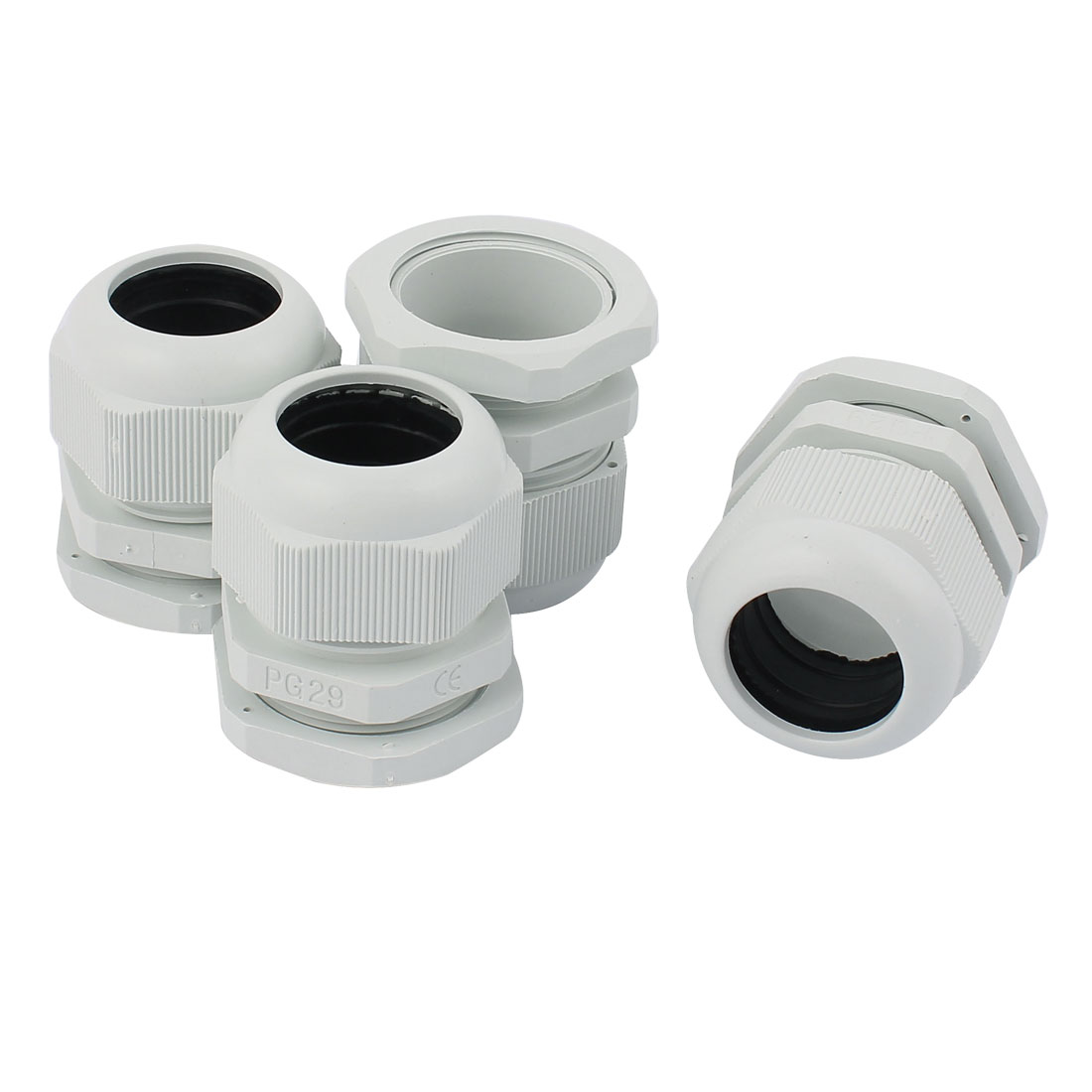 4-Pcs-Plastique-PG29-18-25mm-Dia-Fil-Corde-Poignee-Tuyau-Connecteur-Cable-Glande