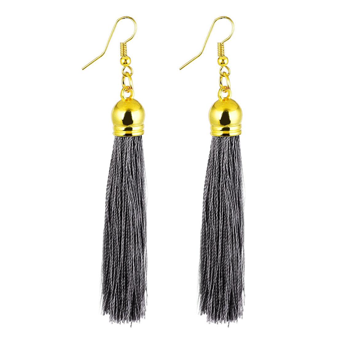 Lady-Fish-Hook-Tassel-Pendant-Dangling-Earrings-Eardrop-3-5-Inch-Long-Pair