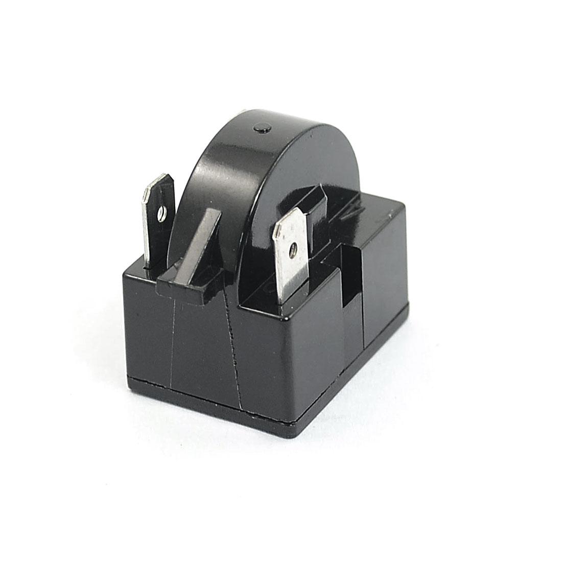 Plastic Shell 22 Ohm 3 Pins Refrigerator PTC Starter Relay Black 2