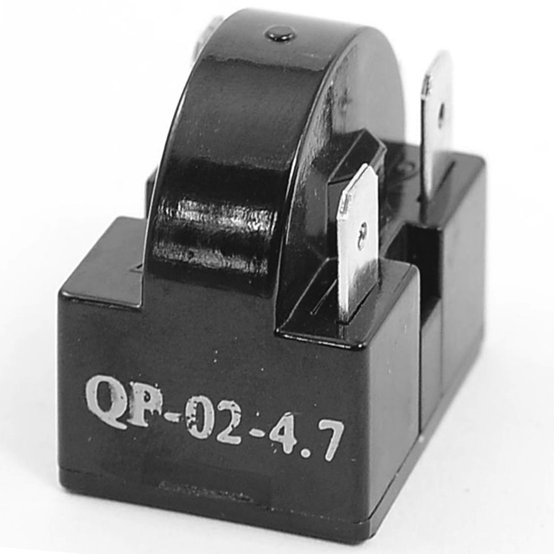 Plastic Housing 4.7 Ohm 3 Pin Refrigerator PTC Starter Relay Black