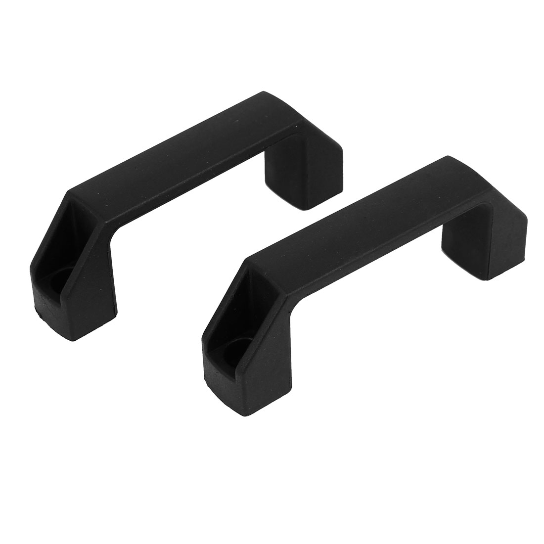 Unique Bargains Cabinet Gate Door Plastic Pull Handles Black 90mm Hole Ing 8pcs