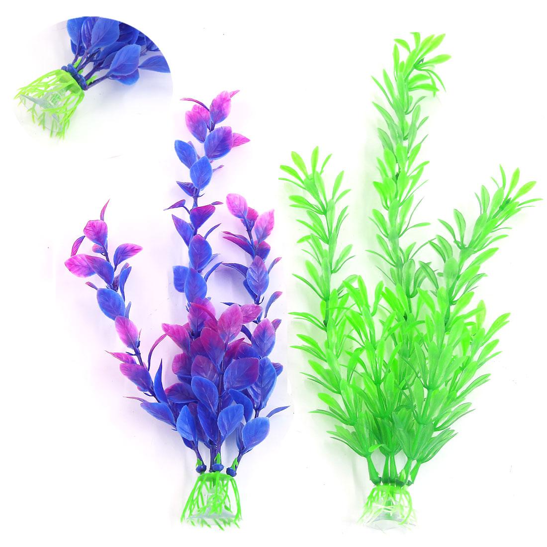 Décoration d'aquarium Plante en plastique avec support à ventouse