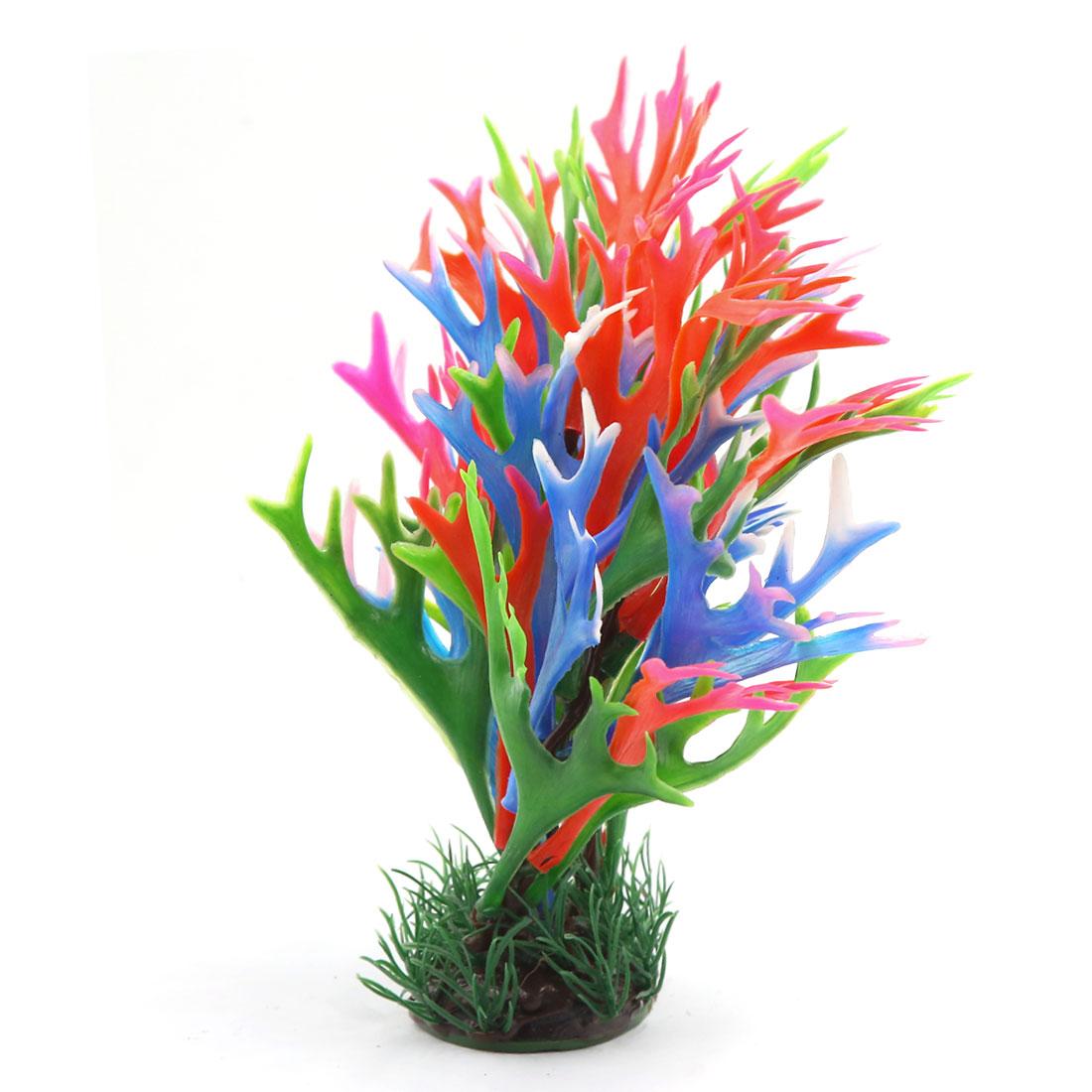 Multi-couleur Plante en plastique Décoration d'aquarium Réservoir à poisson 2