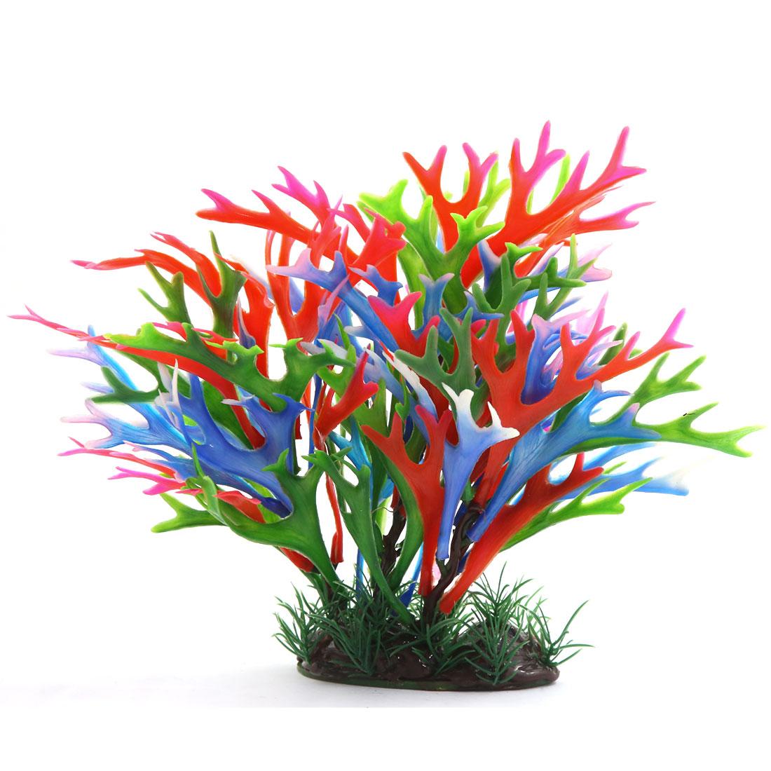 Multi-couleur Plante en plastique Décoration d'aquarium Réservoir à poisson 3