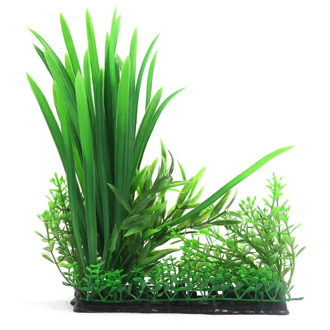 Vert Plante en plastique Décor d'aquarium pour Betta Poisson rouge 3