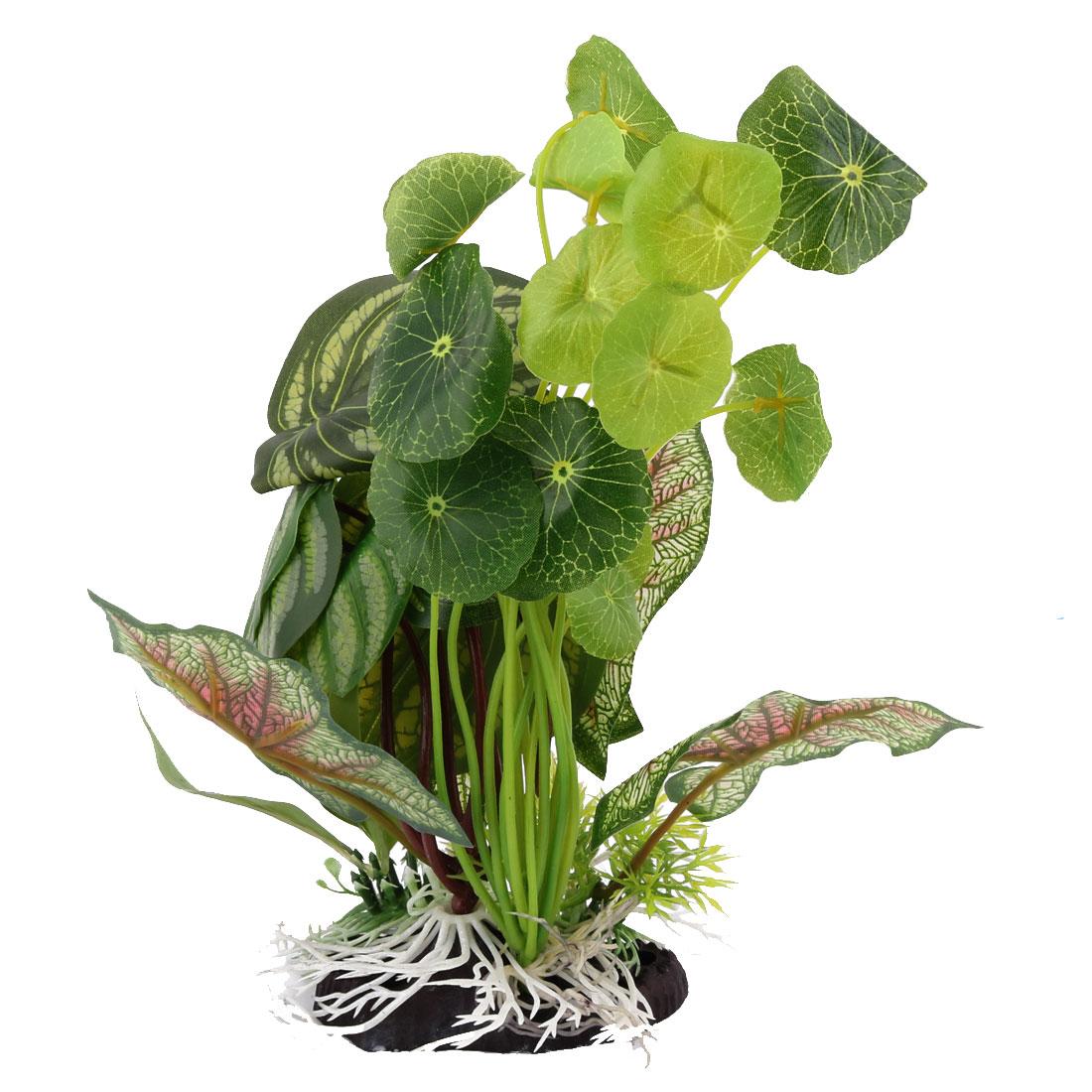 Fish-Tank-Aquarium-Stone-Base-Plastic-Artificial-Landscape-Plant-Grass-Decor