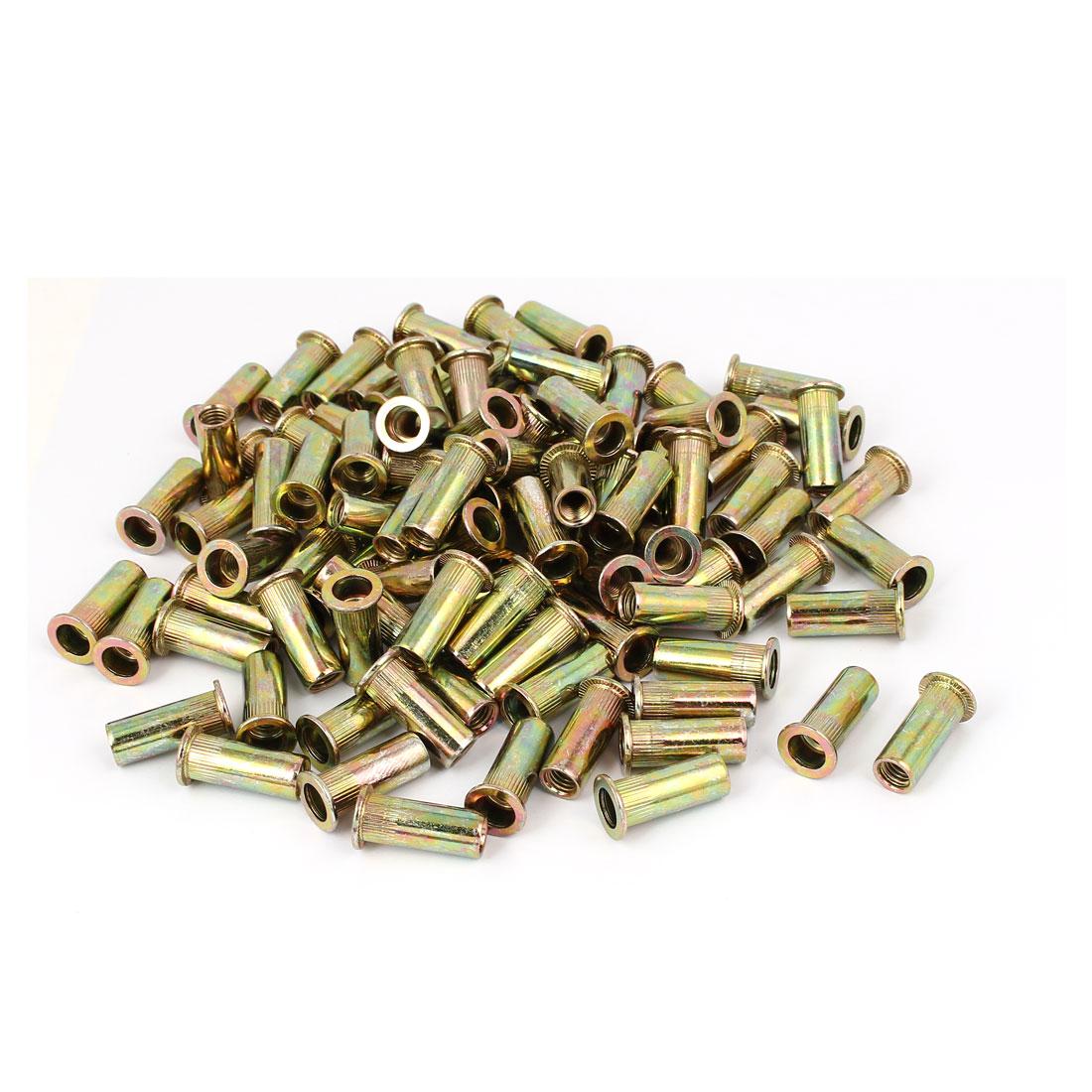 M8-x-28mm-Knurled-Open-Ended-Blind-Rivet-Nut-Insert-Nutsert-100PCS