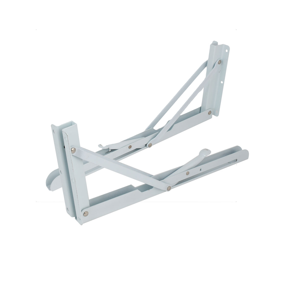 345mm-x-42mm-x-150mm-Metal-Triangle-Folding-Support-Shelf-Bracket-White-2pcs