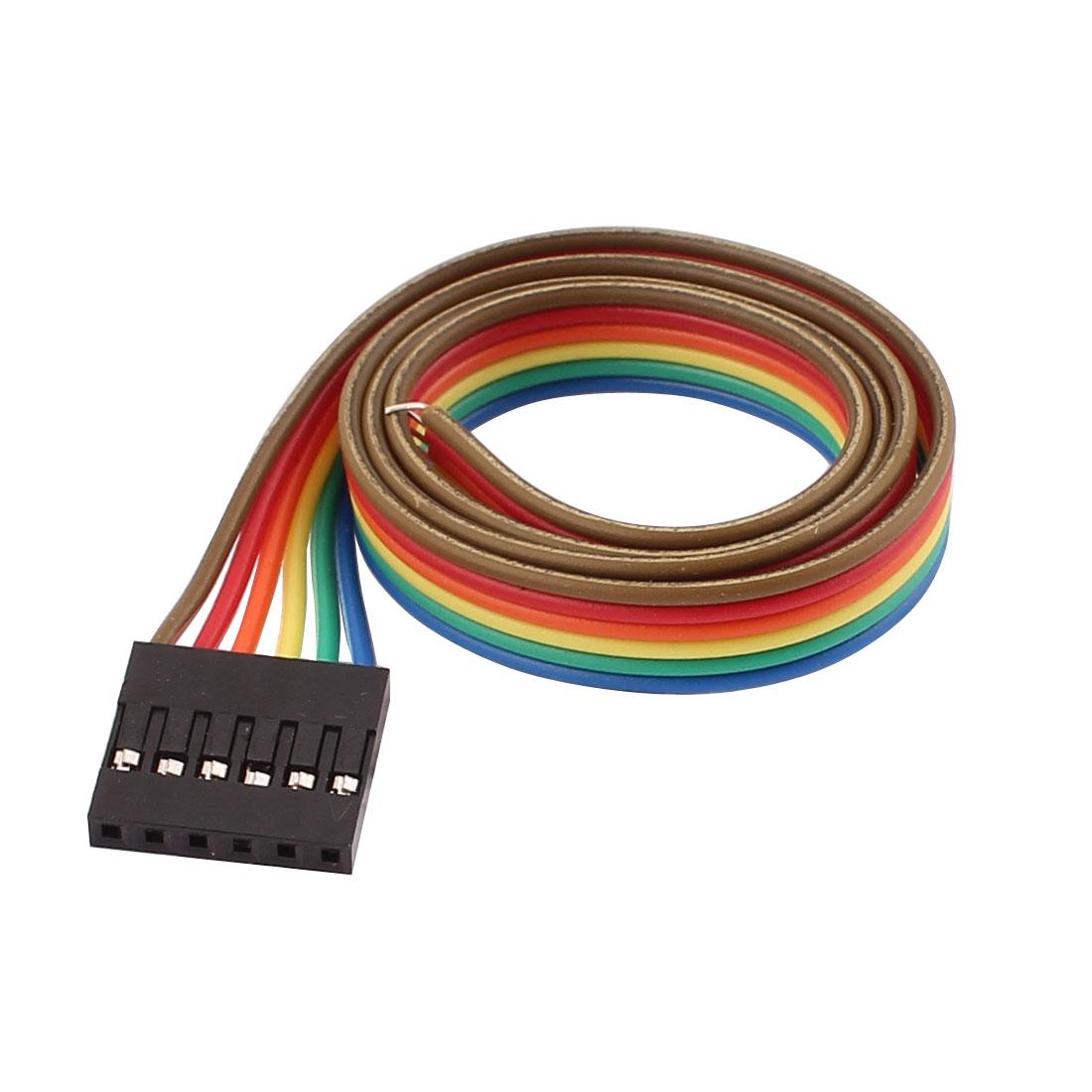 Unique Bargains a16072600ux0853 10 Pcs Female 6P Jumper Wires Ribbon ...