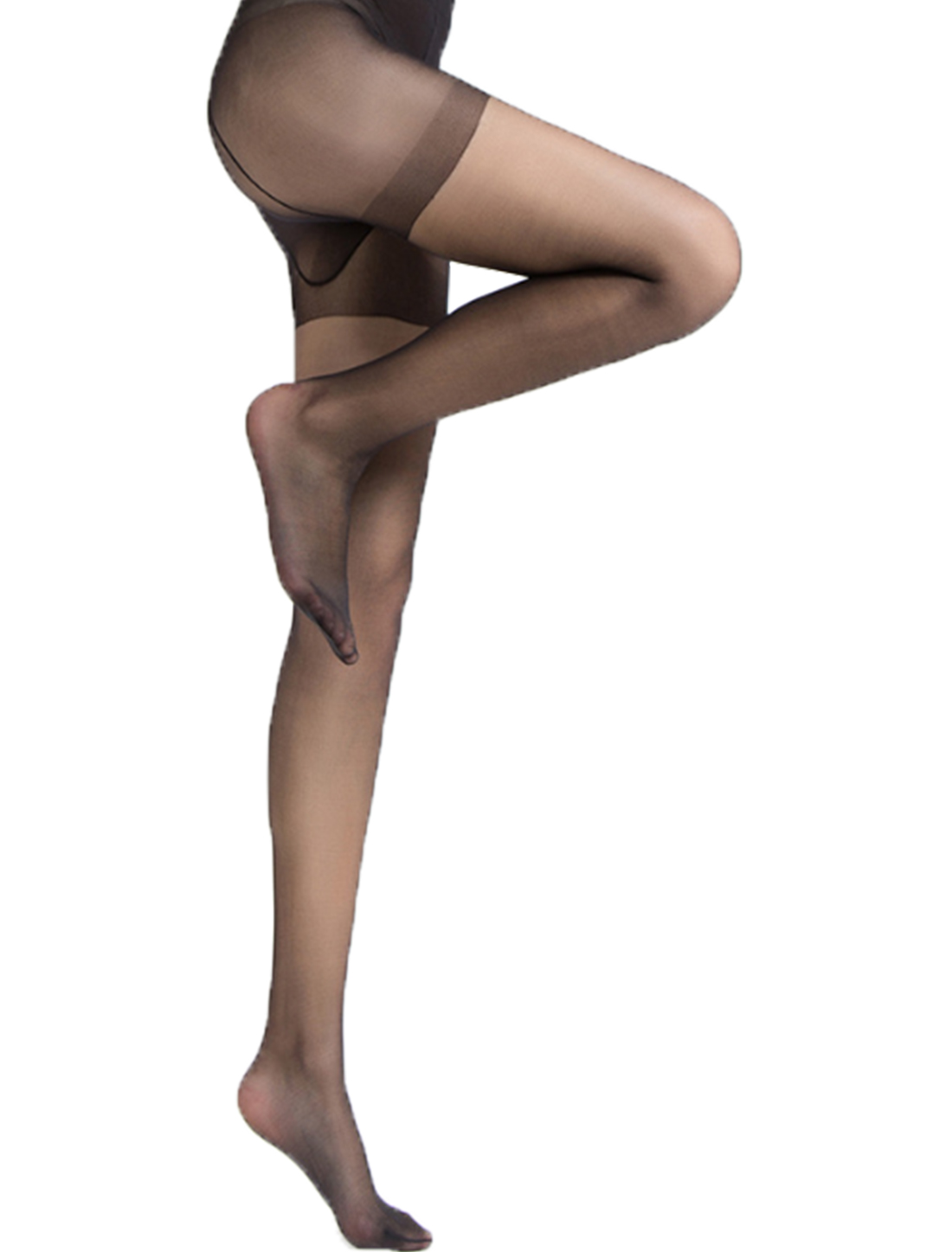 Women-Semi-Sheer-Reinforced-Top-Footed-Pantyhose