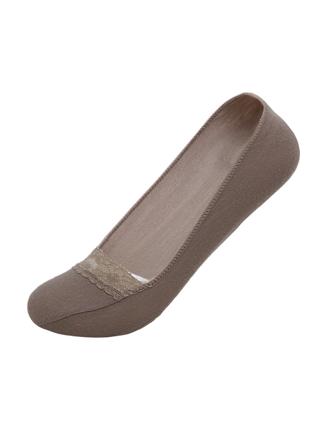 Ladies-Printed-Padded-Detail-Lace-Decor-Boat-Socks-10-12