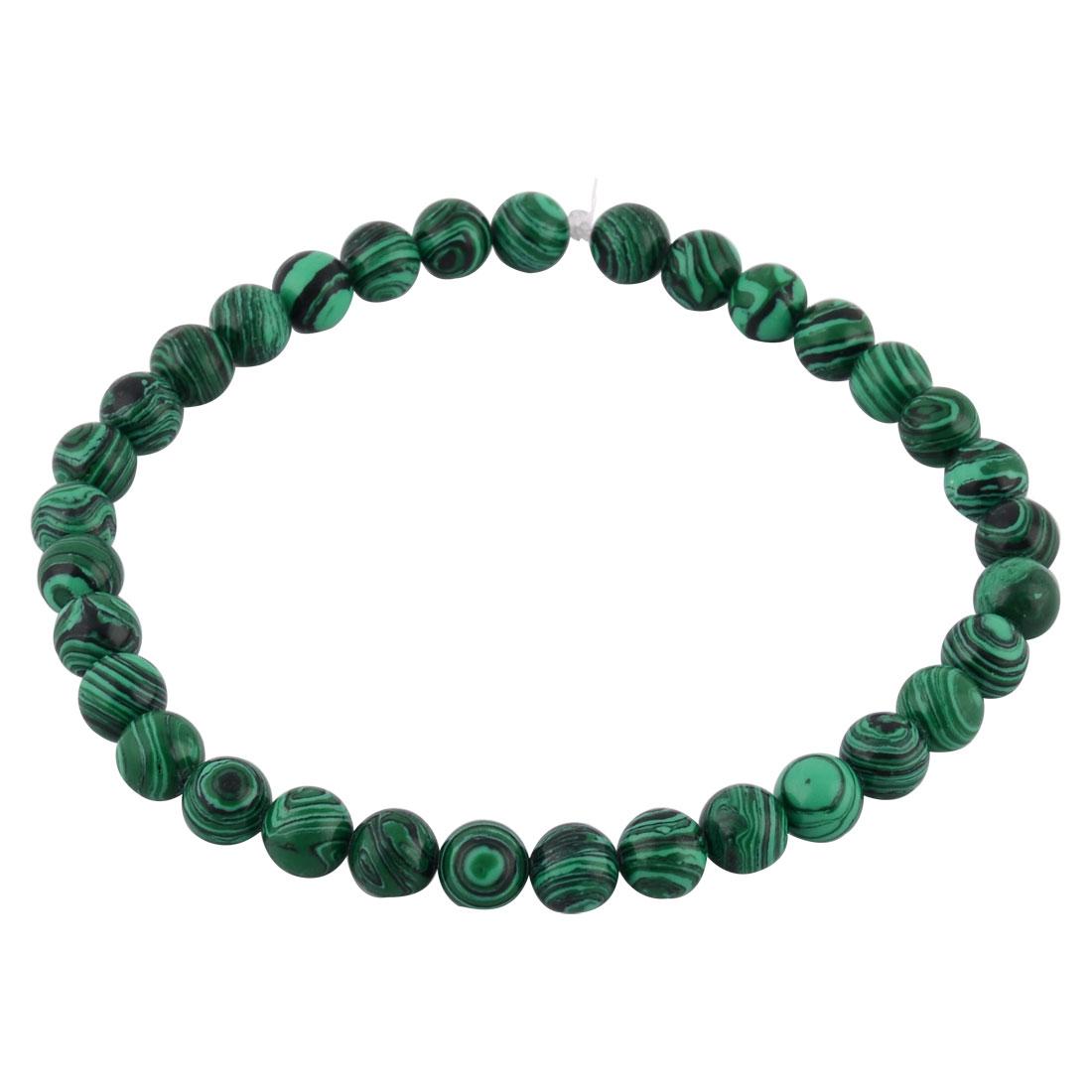 Malachite Grain DIY Beading Decor Necklace Bracelet Beads Strand 1.2cm Dia