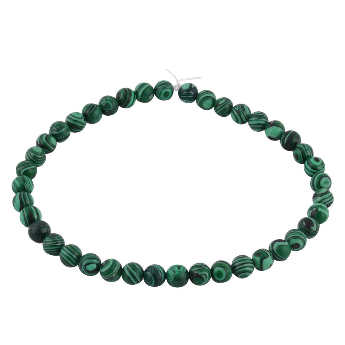 Malachite Grain Pattern DIY Beading Decor Necklace Bracelet Beads Strand 1cm Dia
