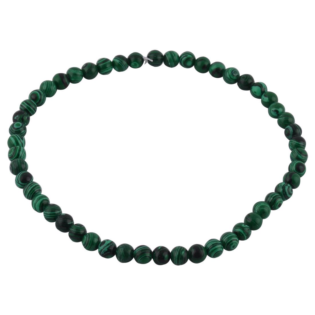 Malachite Design DIY Necklace Bracelet Beading Beads Strand 8mm Dia