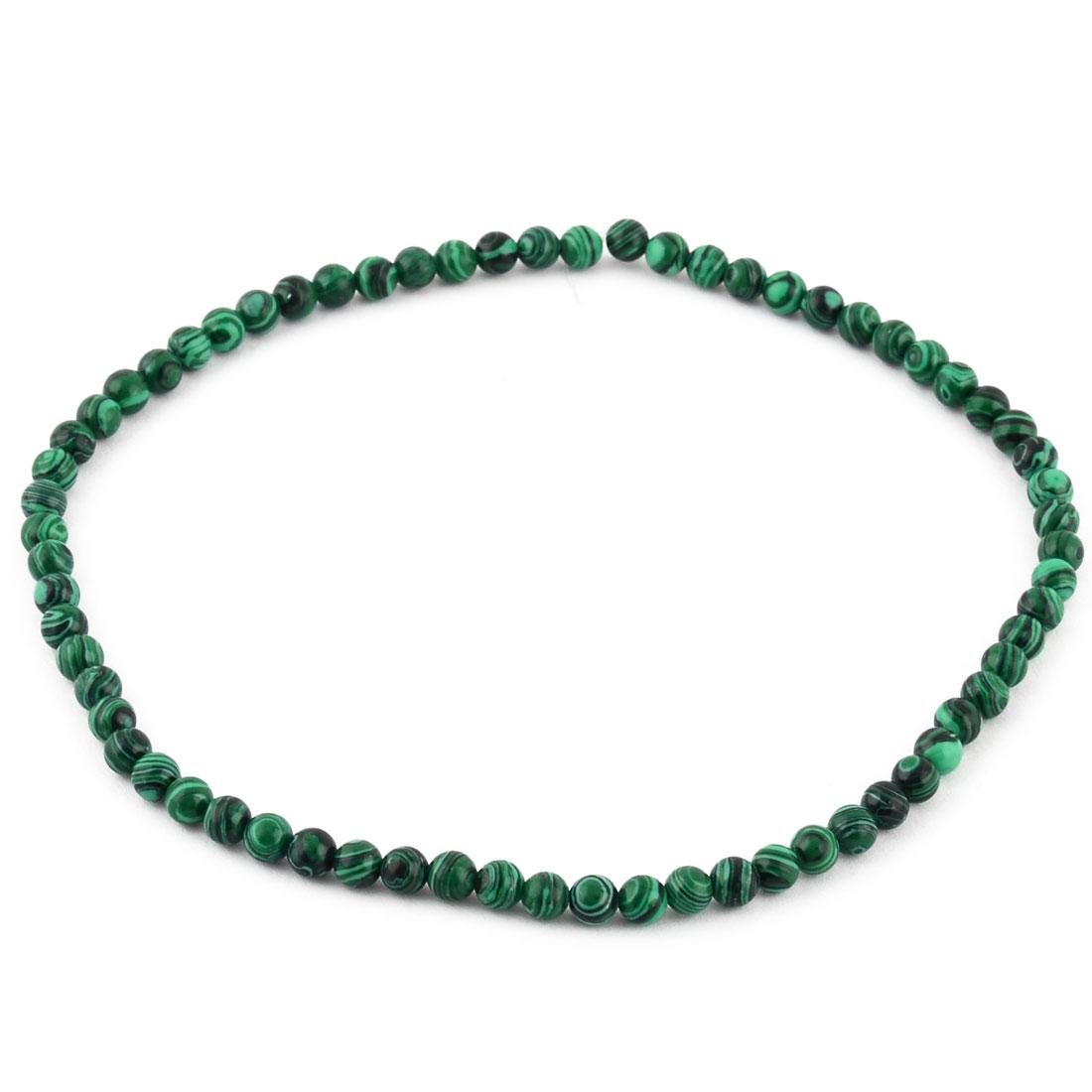 Malachite Pattern Beading Decor Necklace Bracelet Making Beads Strand 0.6cm Dia
