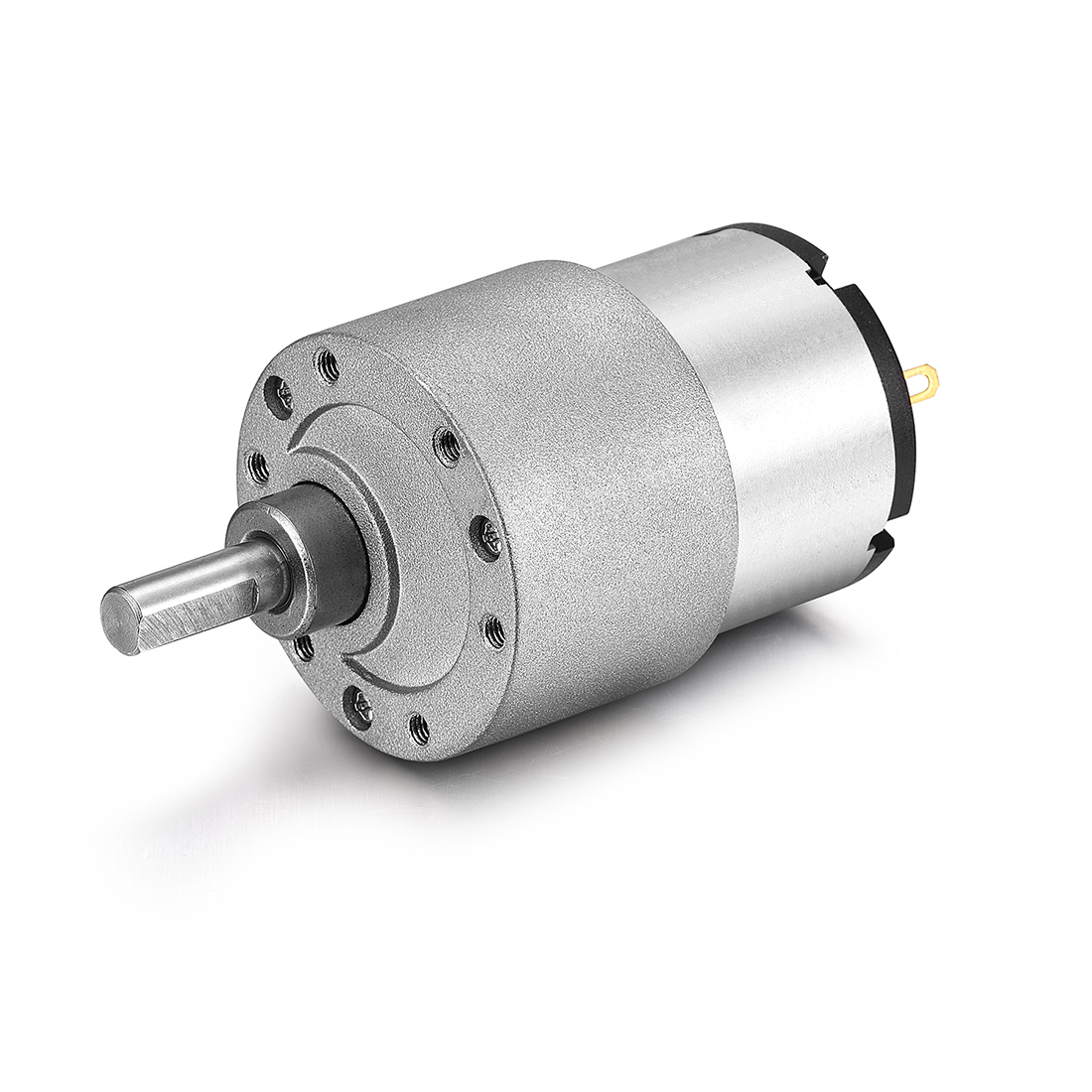 DC 24V 200RPM 6mm Diameter Shaft Electric Geared Box Speed Reduction Motor