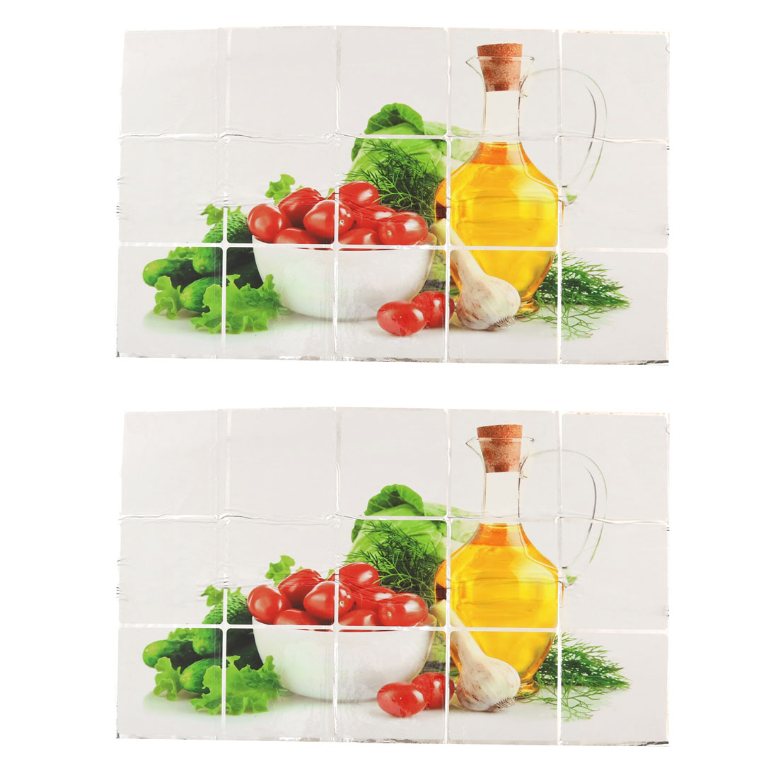 PVC Fruit Pattern Self-adhesive Oil Proof Wall Window Sticker 75 x 45cm 2pcs