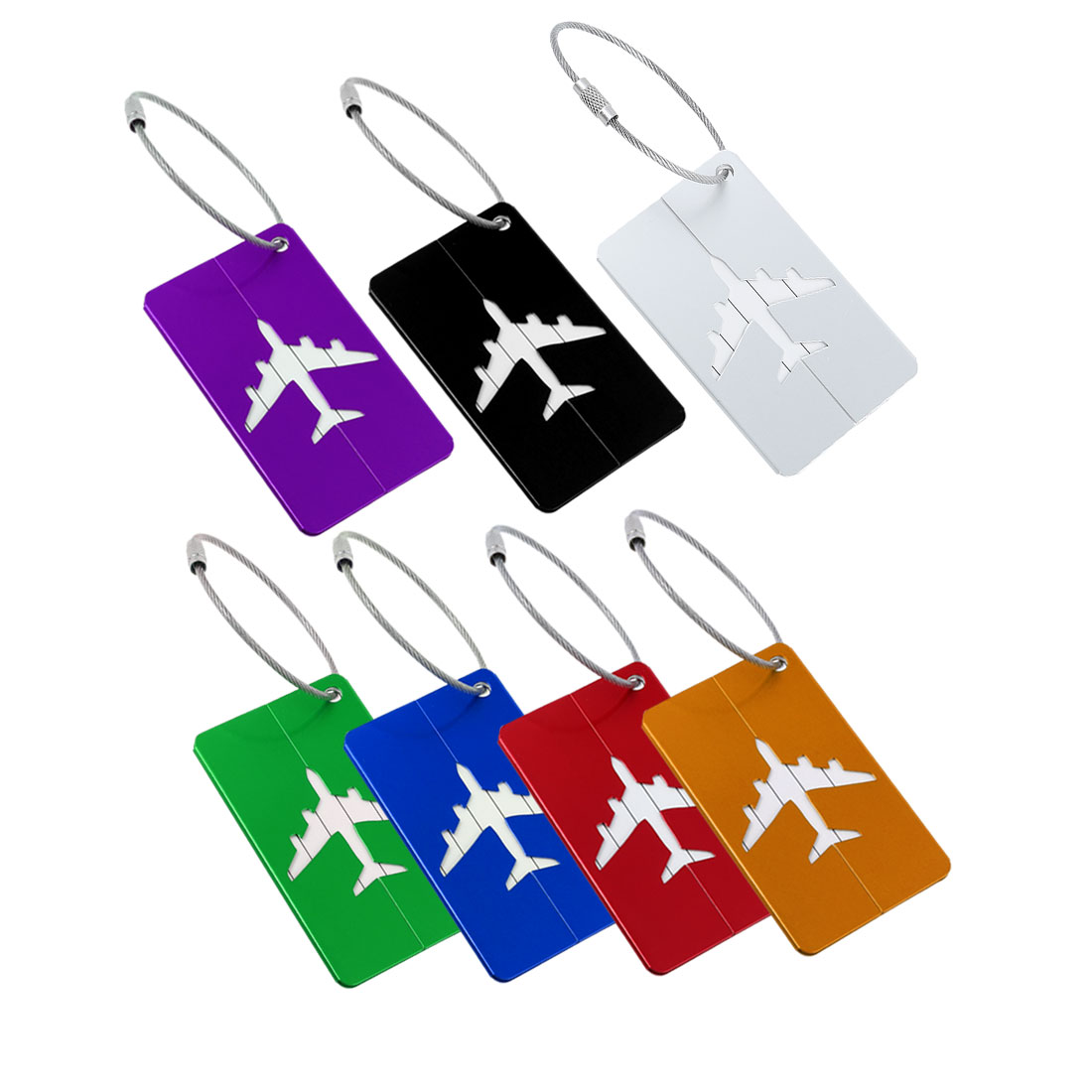 Travel Bag Tags Suitcase Baggage Name Address ID Labels Assorted Color 7pcs