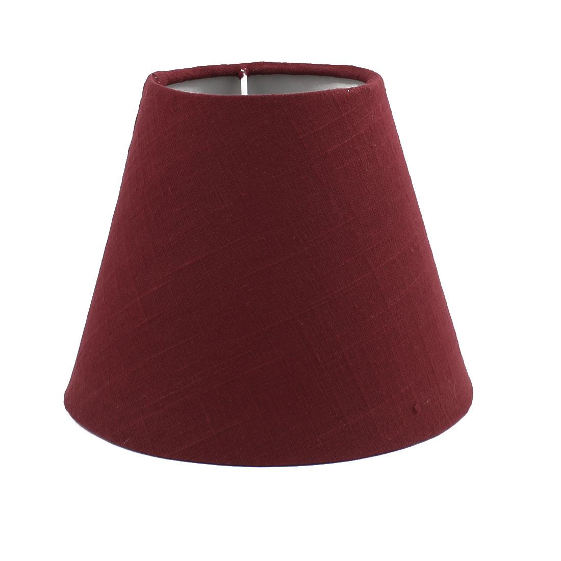 100mm x 180mm x 150mm(Bot D x Top D x H)Pure Color Table LampShade Dark Red