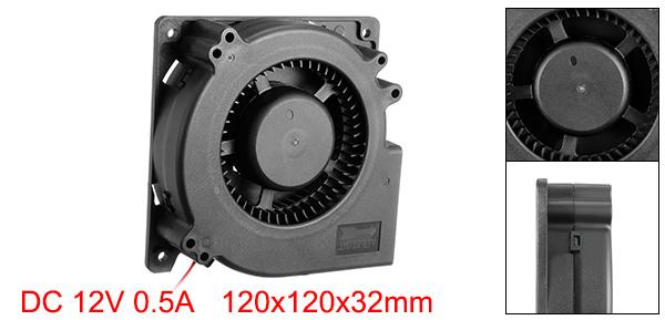 120mm x 120mm x 32mm 12V DC Brushless Blower Cooling Fan Dual Ball Bearings
