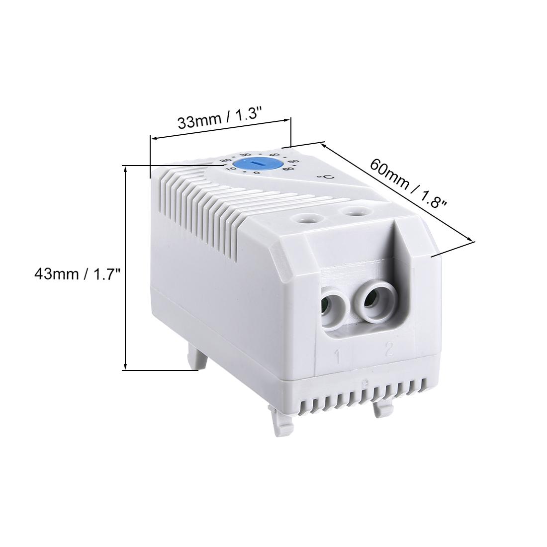 Mécanique Thermostat 0-60 ℃ réglable Compact No Contrôleur de Température Interrupteur